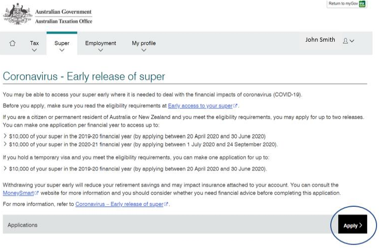 How to Apply for Early Super Access - COVID-19