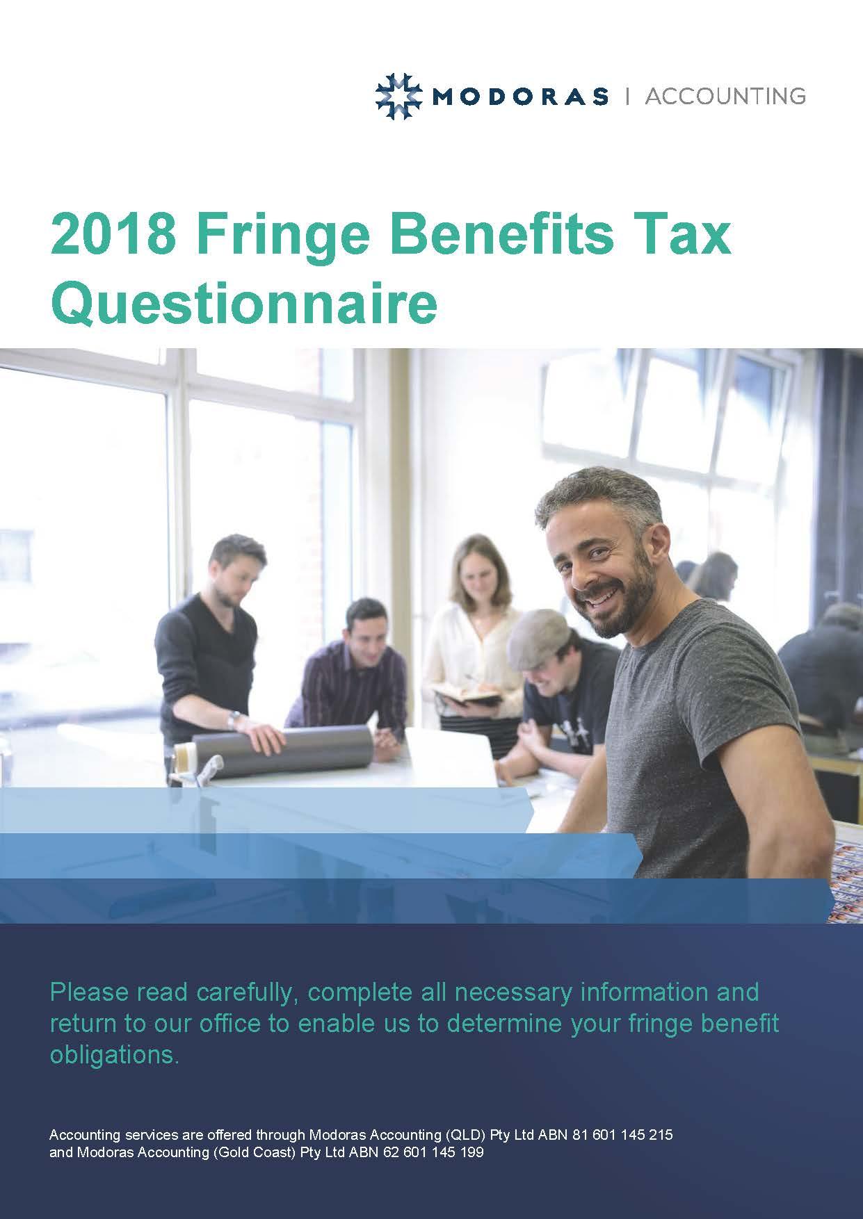 Fringe Benefits Tax Questionnaire