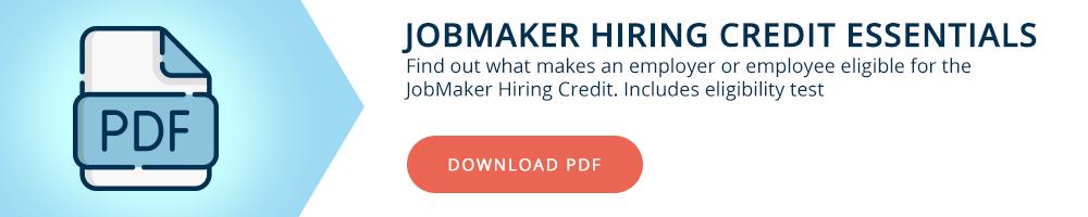 JobMaker Hring Credits Essentials