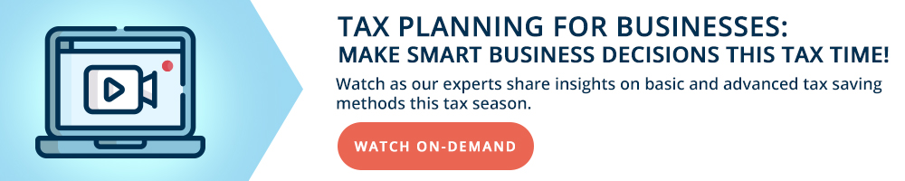 Tax Planning for Businesses Webinar Recorded Live