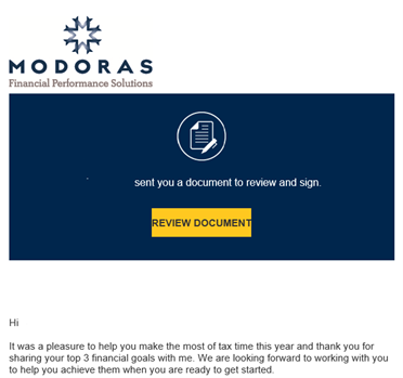 Modoras transitions to Docusign